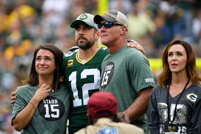 Packers legend Brett Favre doesn't think fans should read much into Aaron Rodgers comments after NFC Championship loss