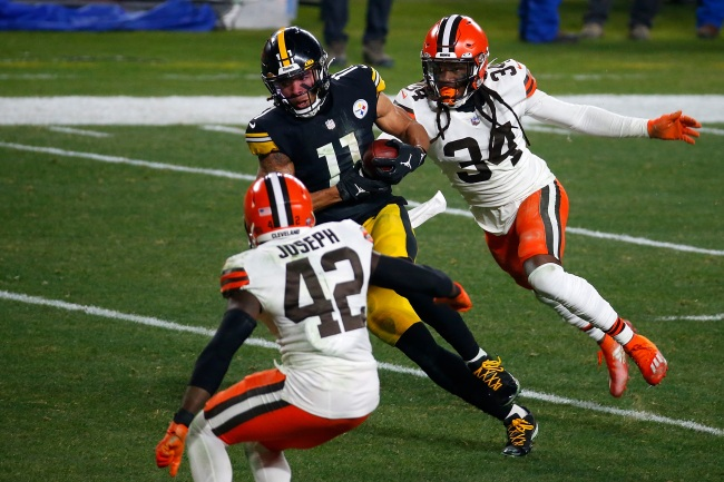 Steelers WR Chase Claypool's still running his mouth and talking trash to Browns after loss in NFL Playoffs