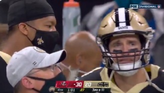 FOX Cameras Catch A Tearful Drew Brees Telling Jameis Winston 'This Is Your Team Now'
