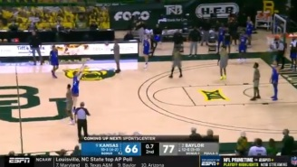 Gamblers Who Bet On Baylor -8.5 Were Absolutely Sick After Miraculous Shot From Kansas Goes In At The Buzzer For Insane Bad Beat