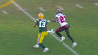 Refs Miss Obvious Holding Call On The Bucs During Aaron Rodgers Interception In NFC Championship Game