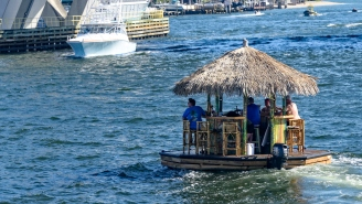 Florida Man Arrested For Stealing An Awesome Tiki Hut Bar Boat And Taking It For A Joy Ride