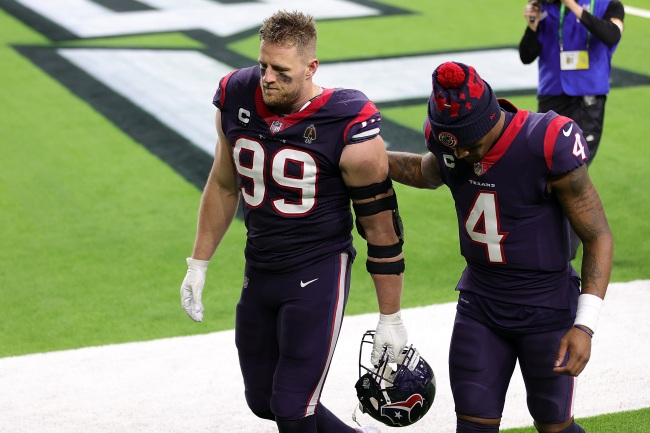 Texans defender JJ Watt actually apologized to Deshaun Watson for wasting one of his years during awful Texans season