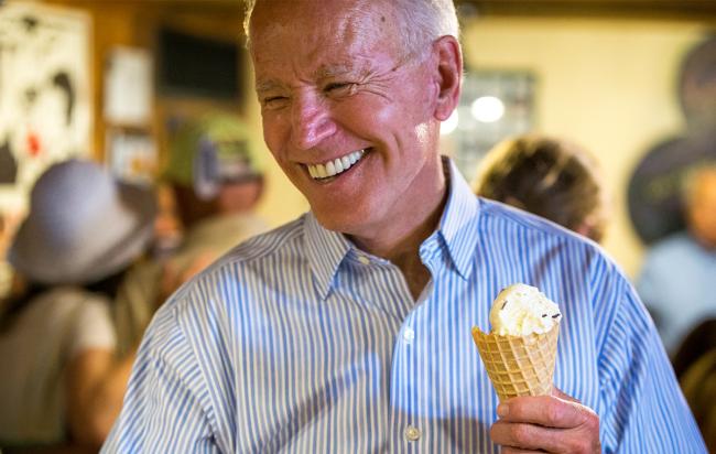 why joe biden loves ice cream