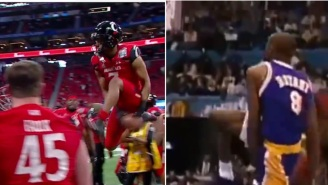 Cincinnati CB Coby Bryant Honors Namesake Kobe Bryant With Awesome Sideline Dunk Celebration After Interception At Chick-Fil-A Bowl