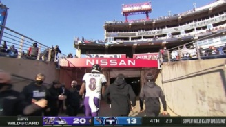 Ravens QB Lamar Jackson Was Not Interested In Shaking Hands With Titans Players And Ran To The Locker Room With Time Left On The Clock