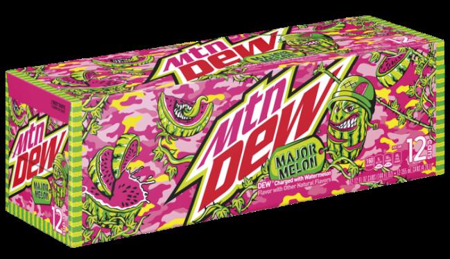 Mountain Dew Major Melon Soda Watermelon Flavor