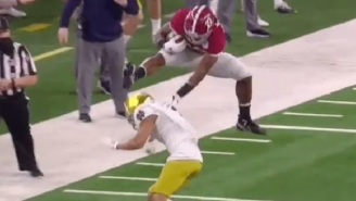 Alabama's Najee Harris Hurdling Over Notre Dame Defender Becomes The First Sports Meme Of The New Year