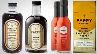 Get Your Pappy Whiskey Fix With Pappy & Co. Cocktail Mixer, Hot Sauce, Maple Syrup, And Coffee