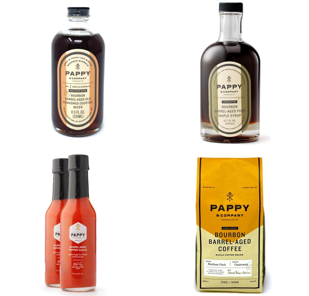 Pappy Co. Whiskey syrup hot sauce coffee cocktail mixers