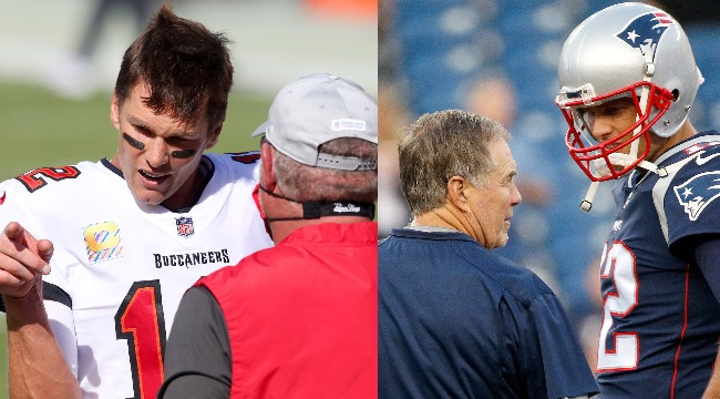 Bruce Arians Jabs Bill Belichick For Not Allowing Tom Brady To Do Coach's Job