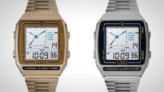 The Q Timex Reissue Digital LCA Watch Is A Late 80's Throwback You Need On Your Wrist