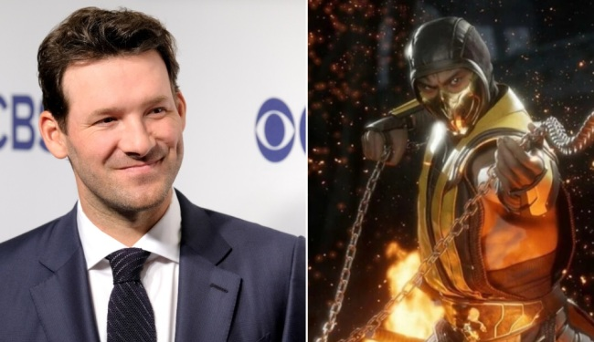 Tony Romo Did His Impression Of Scorpion From Mortal Kombat During Browns-Chiefs Game And NFL Fans Loved It