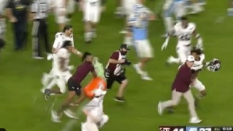Texas A&M HC Jimbo Fisher Shows Off Speed While Running Away From Multiple Gatorade Bath Attempts After Winning Orange Bow
