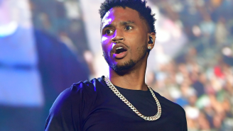 New Video Appears To Show Trey Songz Throwing A Punch At A Cop Before His Arrest At The AFC Championship