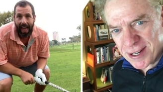 Adam Sandler Recreates 'Happy Gilmore' Shot On 25th Anniversary Of Movie And Shooter McGavin Fires Back