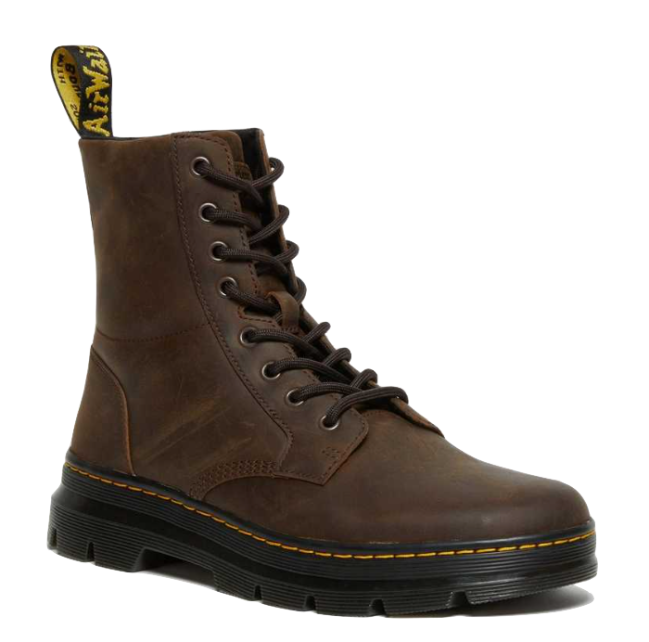 Dr Martens Combs Crazy Horse Leather Casual Boots