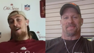 Watch George Kittle Turn Into A Wrestling Fanboy When 'Stone Cold' Breaks Into His Interview Time On 'First Take'