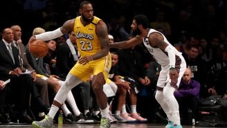 Kyrie Irving Mocks LeBron James For Missing Free Throw During Nets-Lakers Game