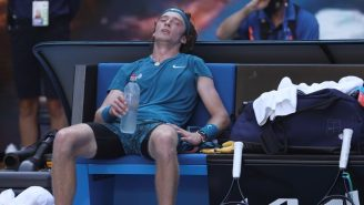 Andrey Rublev Took A Mid-Match Shower During His Australian Open Quarter-Final