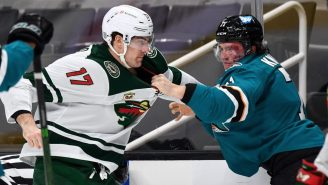 Wild Winger Marcus Foligno Beat The Wheels Off An Opponent And Called A Referee To Stop The Fight