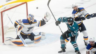 Blues Goalie Jordan Binnington Threw A Hilarious Tantrum After Being Pulled Vs. Sharks