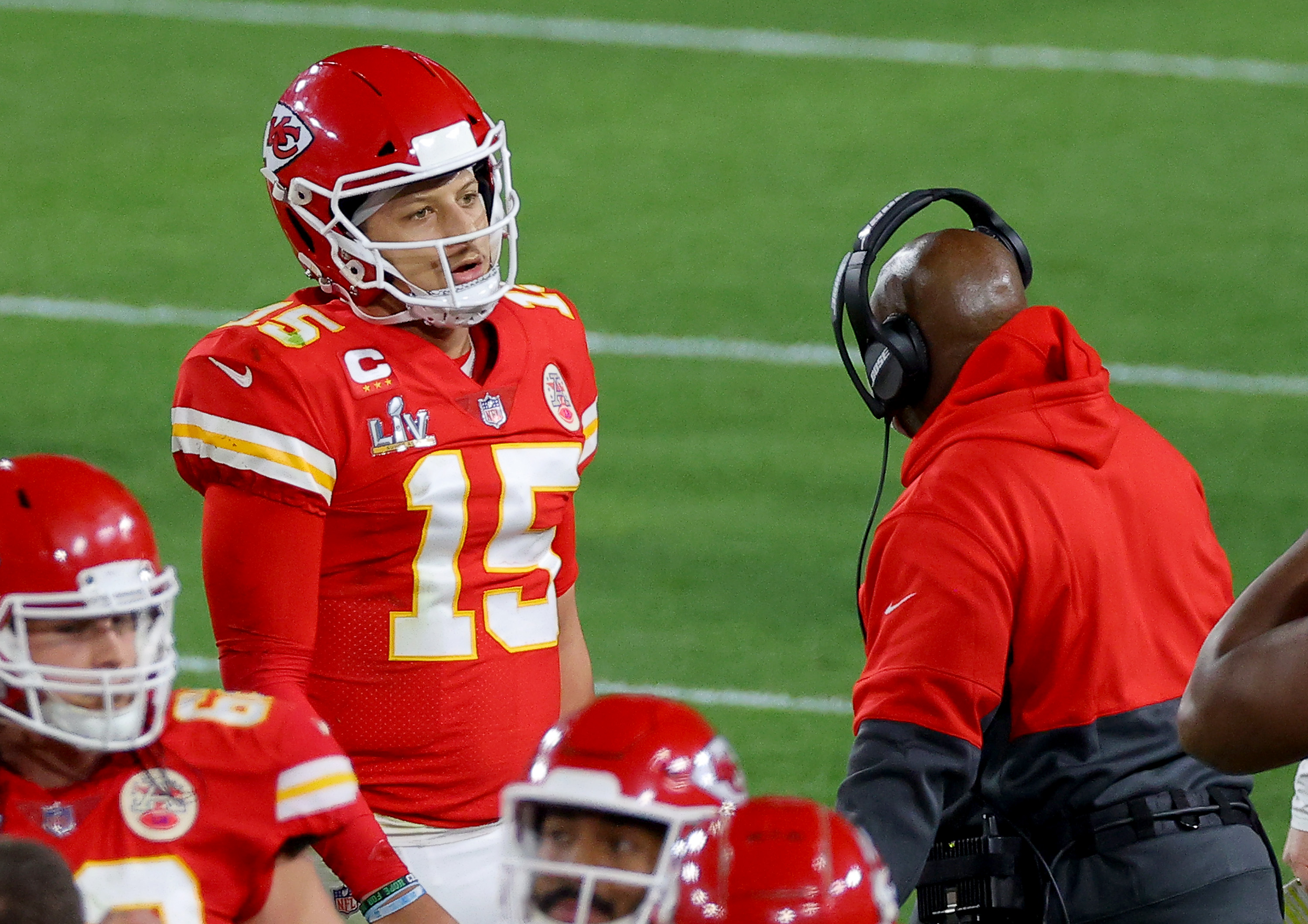 Patrick Mahomes' Mom, Fiancée And Travis Kelce's Girlfriend Rip Refs Throughout Super Bowl During Chiefs' Loss