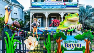 New Orleans 'House Floats' Celebrate Mardi Gras As Parades Are Cancelled Amidst COVID-19 Pandemic