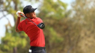 Golfers Are Showing Support For Tiger Woods By Wearing Red And Black In Sunday's Final Round
