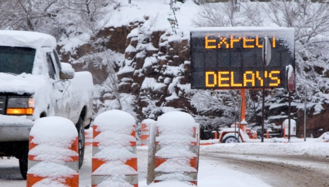 Pickup Launches And Falls 70 Feet Off Snowy Wisconsin Overpass
