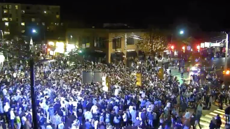 UNC Students Rushed The Streets Of Chapel Hill After Beating Duke Despite COVID-19 Restrictions