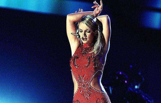 Singer Britney Spears performing