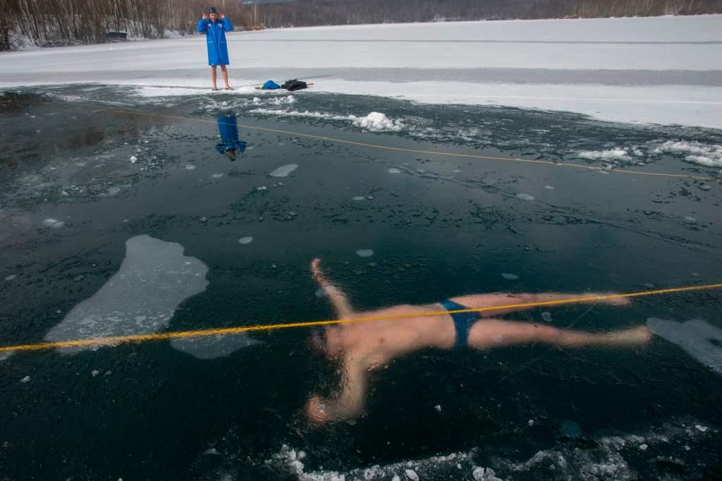 David Vencl free dive under ice world record