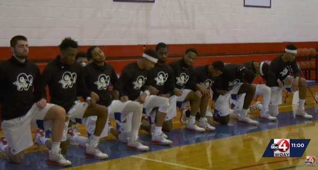 College Basketball Team Forced To Forfeit Game After Players Were Suspended For Kneeling During Anthem