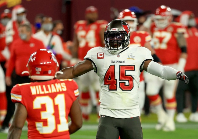 Buccaneers LB Devin White admits the Chiefs cockiness helped fuel he and his teammates during Super Bowl 55