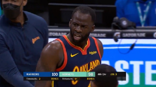 Draymond Green Costs Warriors Game Vs Hornets After Losing His Mind And Getting Two Techs While Up Two Points With Nine Seconds Left