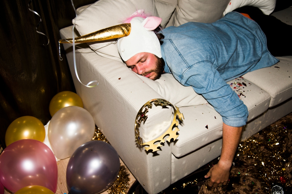passed out at party