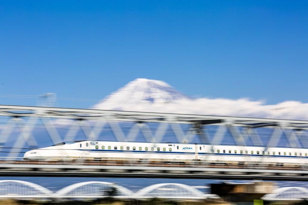 snowy bullet train