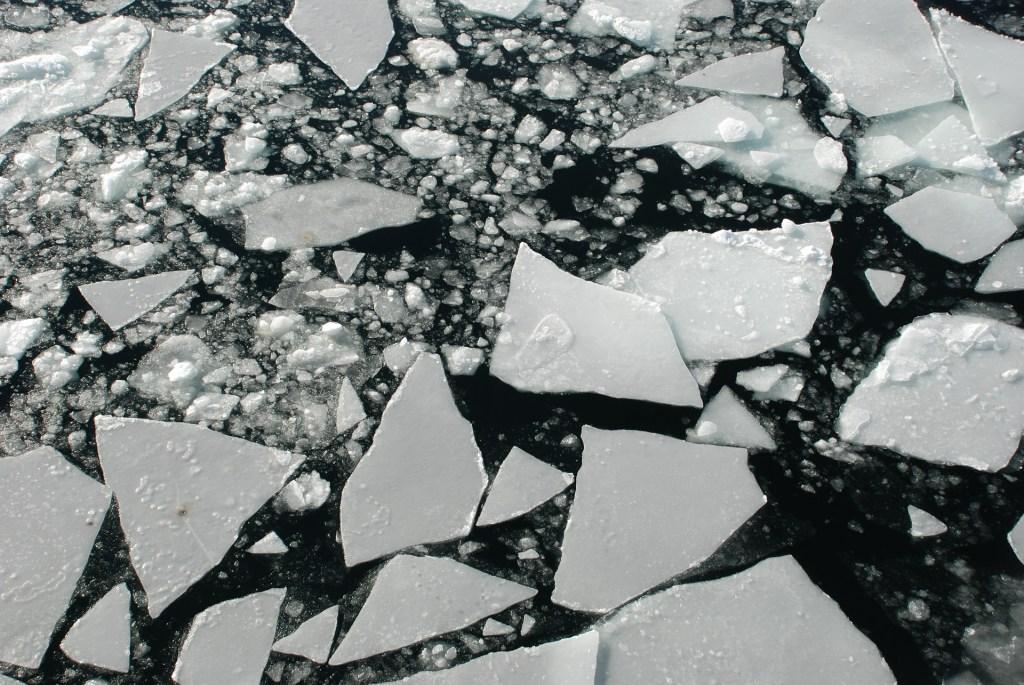 cracked ice pond