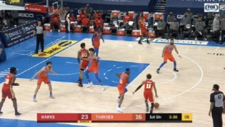 The OKC Thunder Were Forced To Change Jerseys Mid-Game Because Viewers Were Confused And Couldn't Tell Teams Apart Due To Jersey Colors