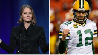 Jodie Foster Thanks Aaron Rodgers During Golden Globes Speech Weeks After He Randomly Included Her In His MVP Speech