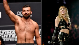 UFC Fighter Julian Marquez Says Miley Cyrus Slid In His DMs After He Decided To Shoot His Shot At Her During Postfight Interview