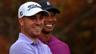 Justin Thomas Gets Emotional While Reacting To News Of Tiger Woods' Car Crash