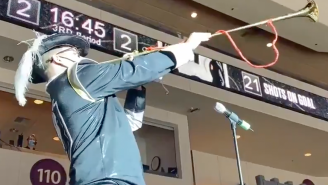 An AHL Team Had A Medieval Town Crier Eloquently Announce Who Scored After Every Goal