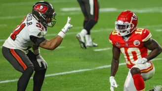 Fans Rip The NFL For Fining Bucs' Antoine Winfield Jr. $7,850 For Mocking Tyreek Hill With Peace Sign During Super Bowl
