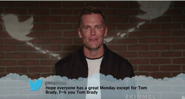 Tom Brady Hilariously Reads Mean Tweets About Himself For Two Minutes Straight On 'Jimmy Kimmel Live'
