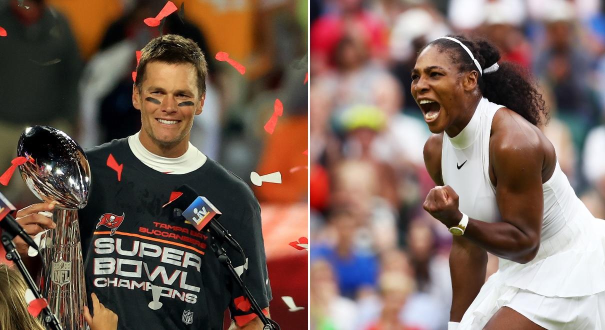The Tom Brady Vs Serena Williams GOAT Athlete Debate Takes Over Social Media After Super Bowl