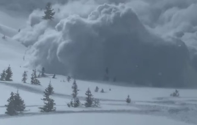 Snowmobilers survive Utah avalanche at the Uinta Mountains, according to video posted to Facebook by snowmobiler Miles Penrose.