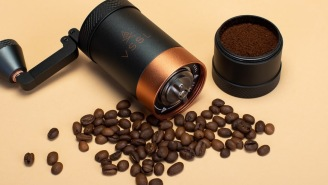 The VSSL Java Handheld Coffee Grinder Is Indestructible And Delivers Barista-Grade Coffee While Camping