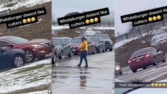 Love To See It: Viral TikTok Shows Justice Being Served To A Car Cutting The Line At Whataburger